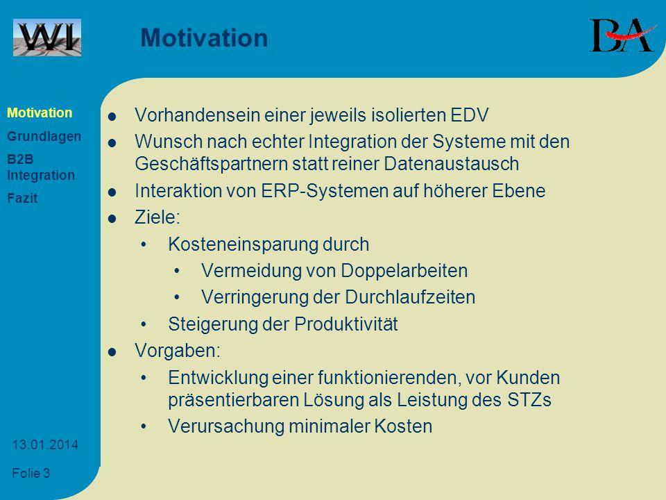 Motivation Vorhandensein einer jeweils isolierten EDV