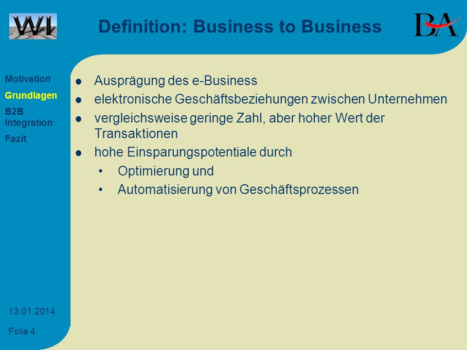 Definition: Business to Business