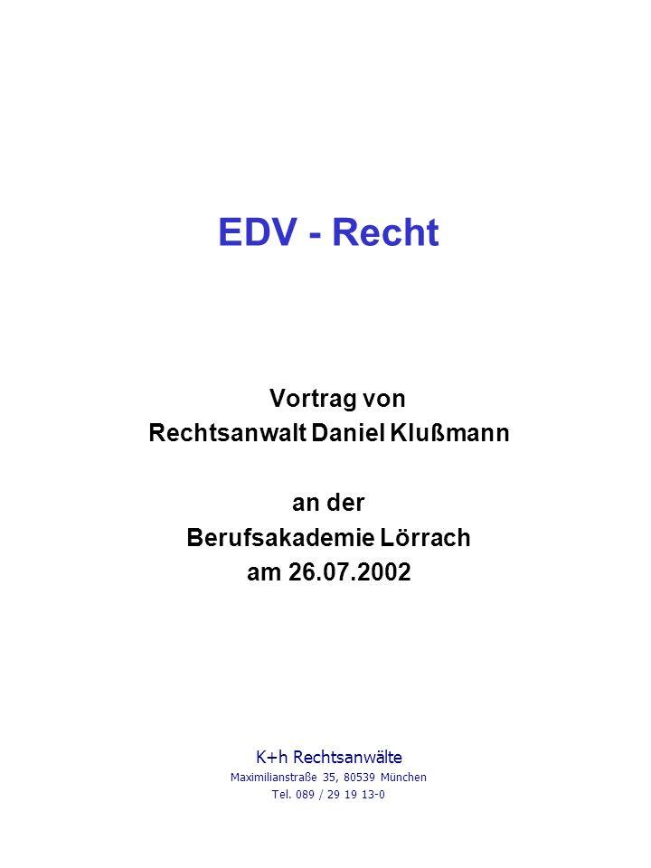 Rechtsanwalt Daniel Klußmann Berufsakademie Lörrach
