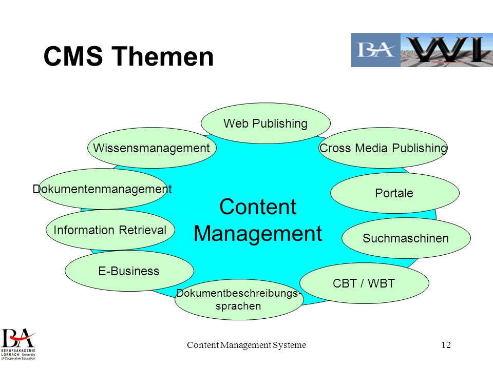 CMS Themen Content Management Web Publishing Wissensmanagement