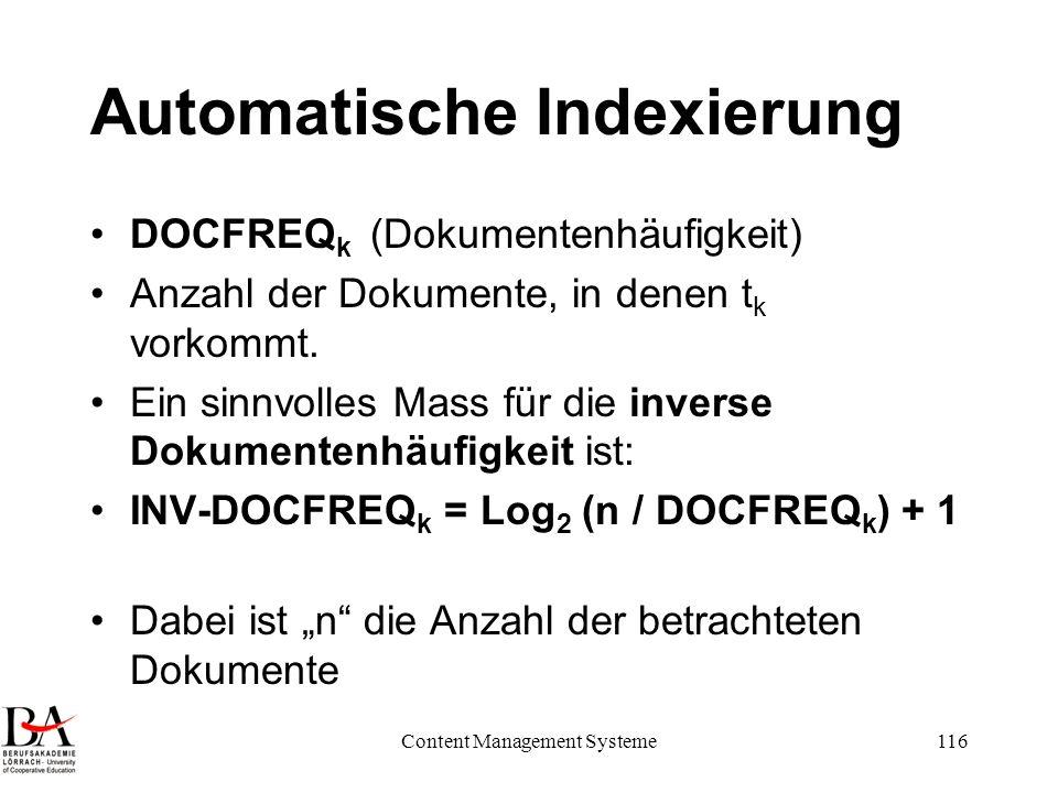 Automatische Indexierung
