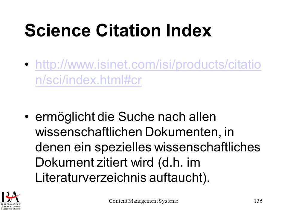 Science Citation Index