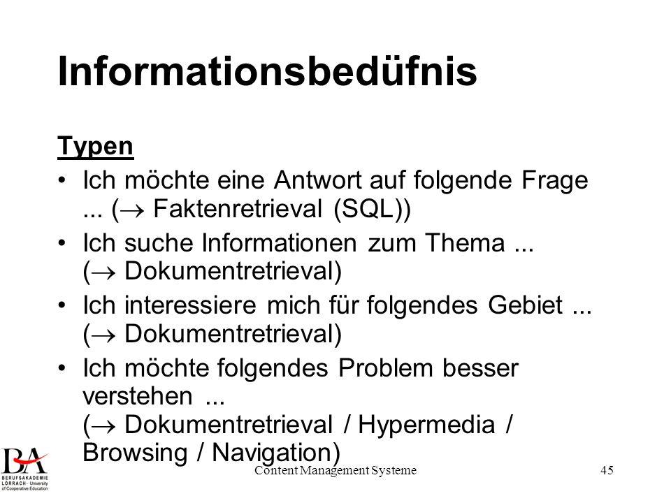Informationsbedüfnis