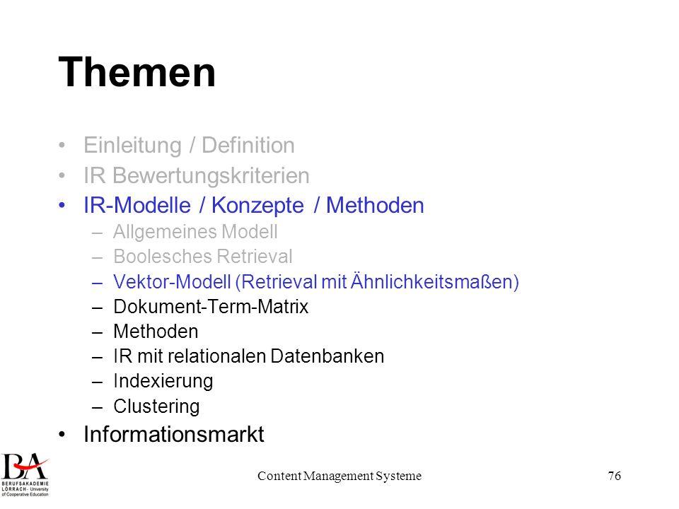 Content Management Systeme