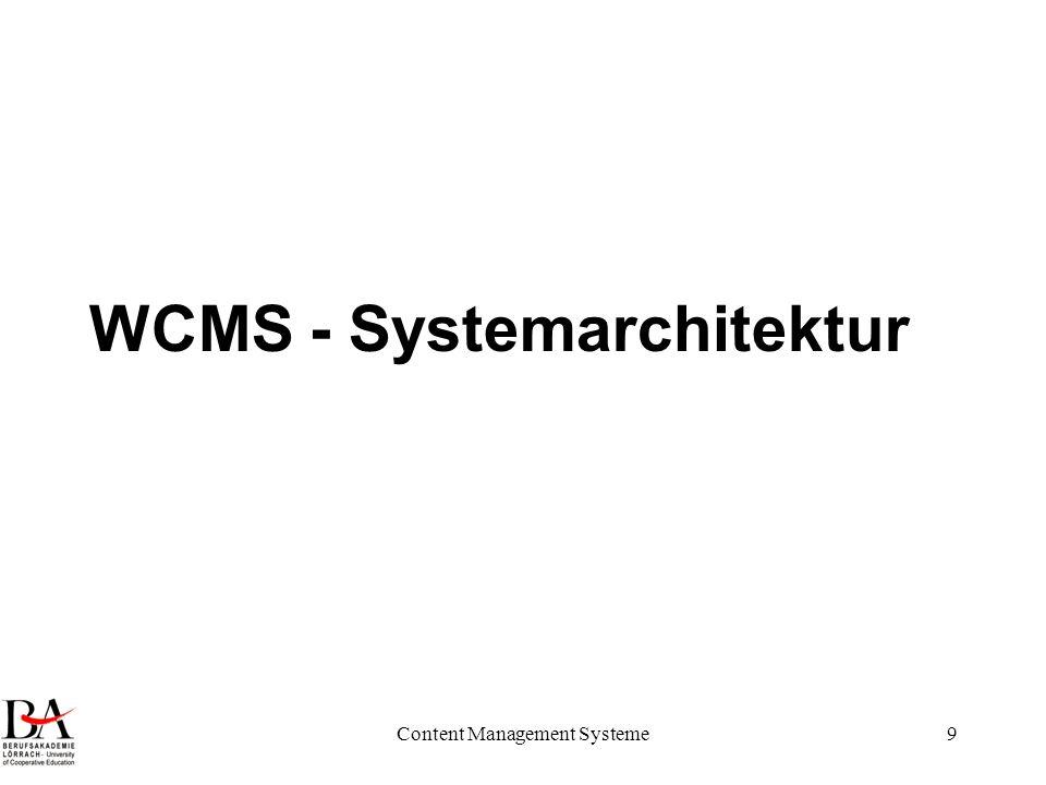 WCMS - Systemarchitektur