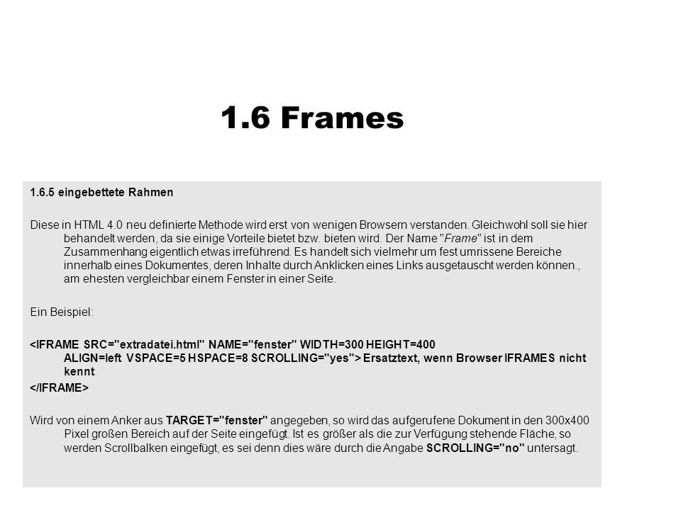 1.6 Frames 1.6.5 eingebettete Rahmen
