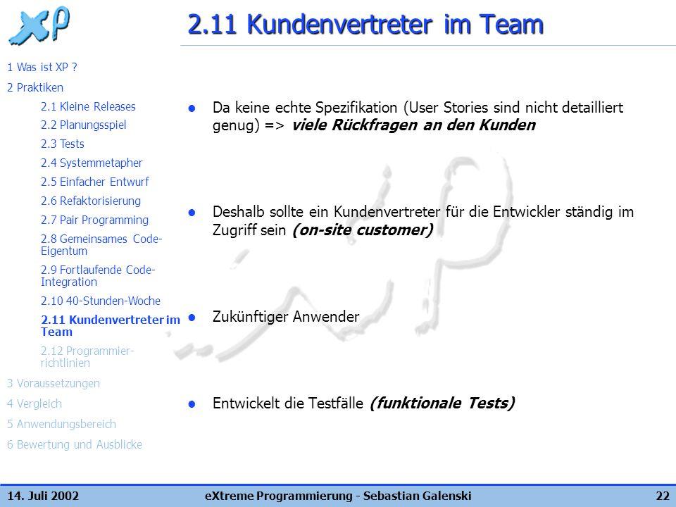 2.11 Kundenvertreter im Team