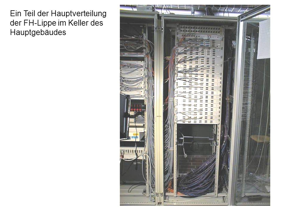 Ein Teil der Hauptverteilung der FH-Lippe im Keller des Hauptgebäudes