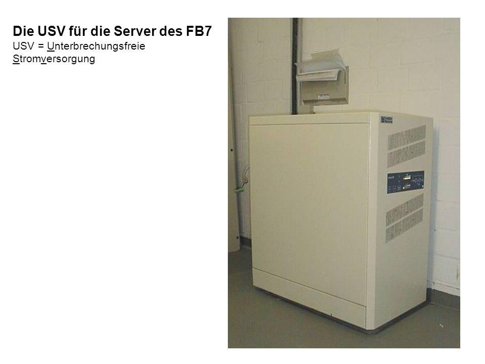 Die USV für die Server des FB7