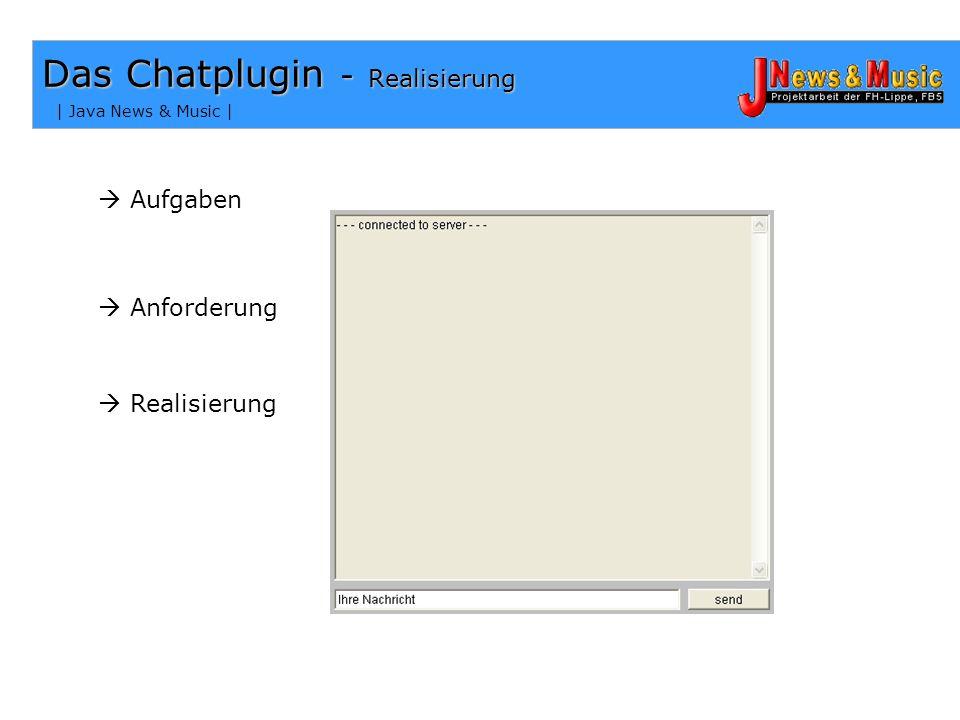Das Chatplugin - Realisierung