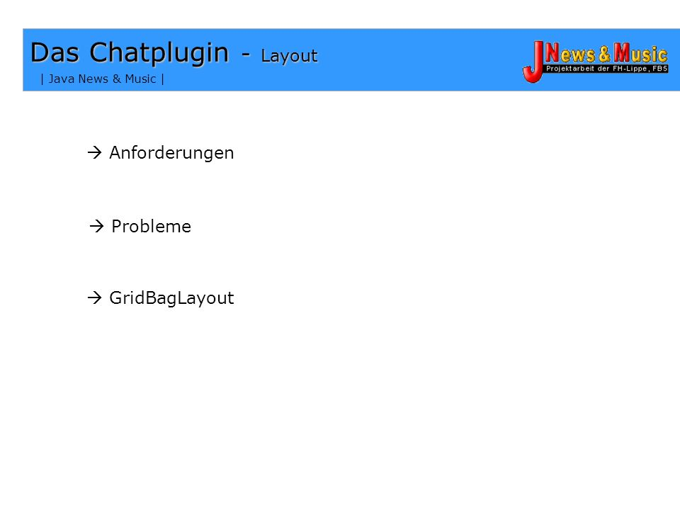 Das Chatplugin - Layout