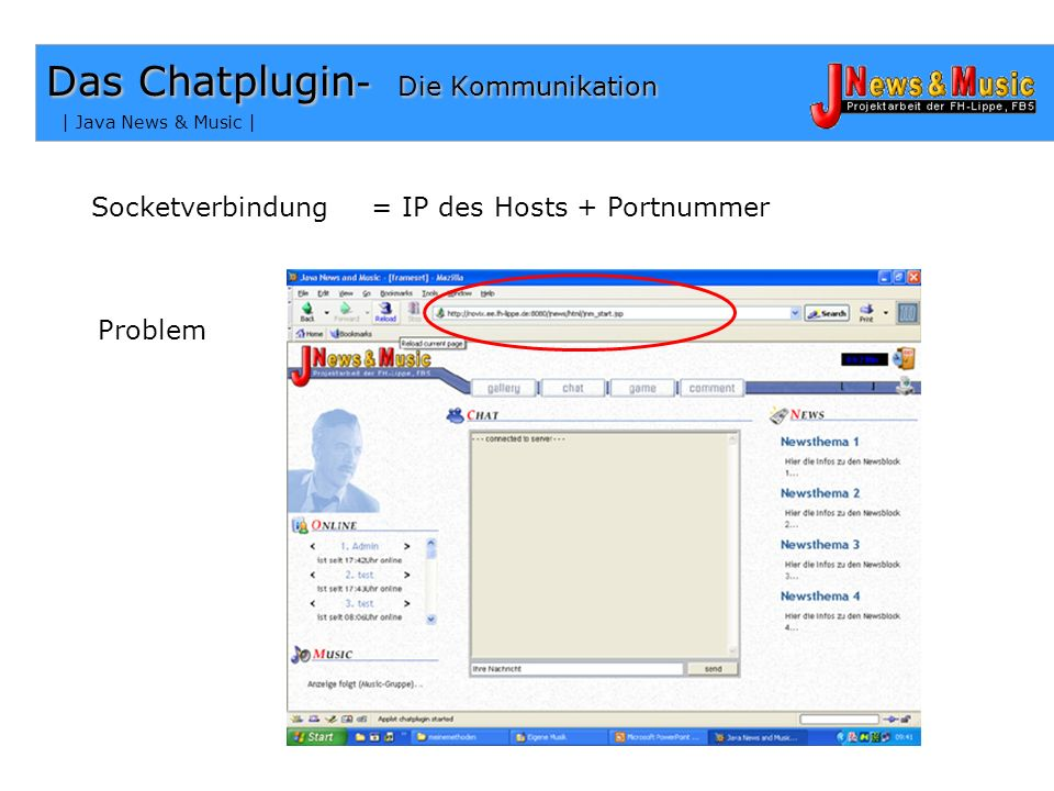 Das Chatplugin- Die Kommunikation