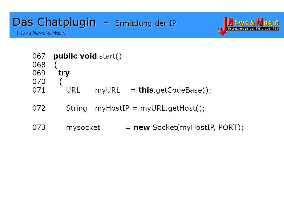 Das Chatplugin – Ermittlung der IP