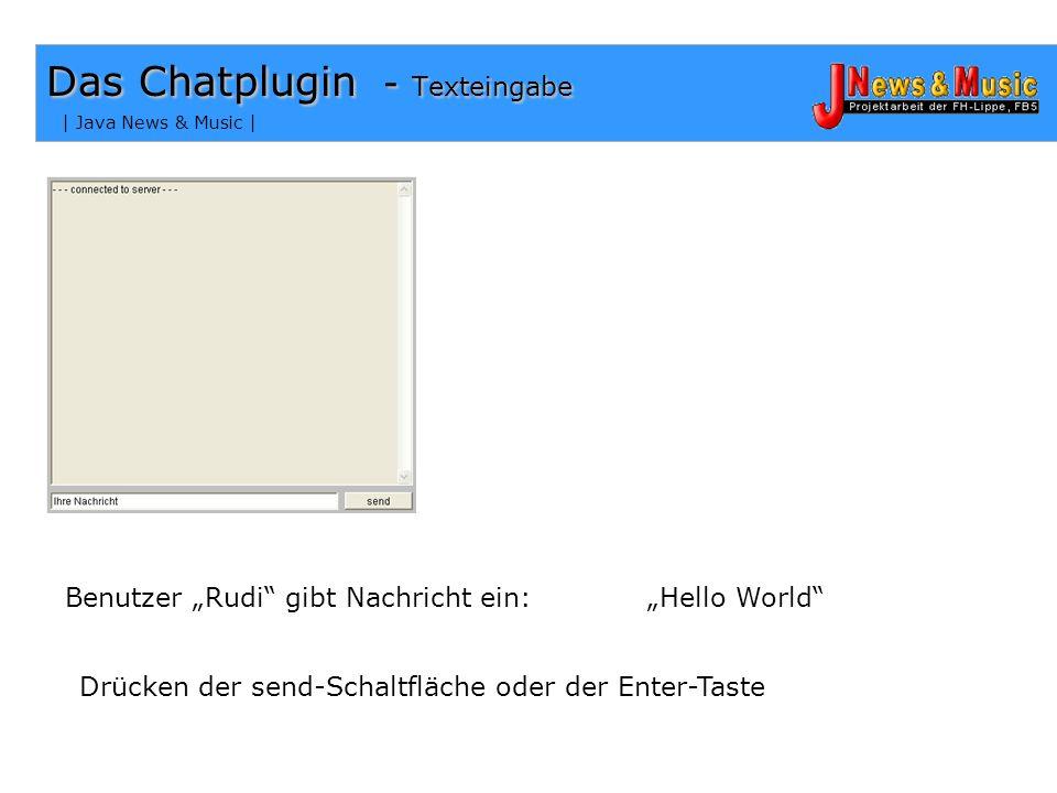 Das Chatplugin - Texteingabe