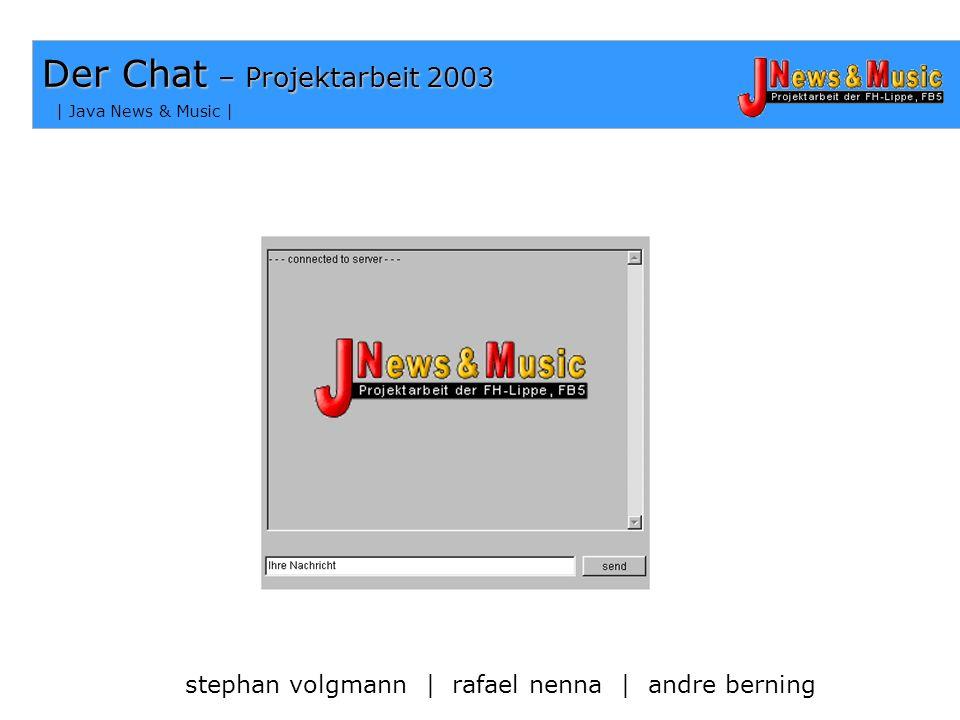 Der Chat – Projektarbeit 2003
