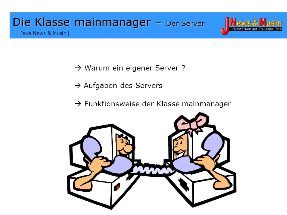 Die Klasse mainmanager – Der Server