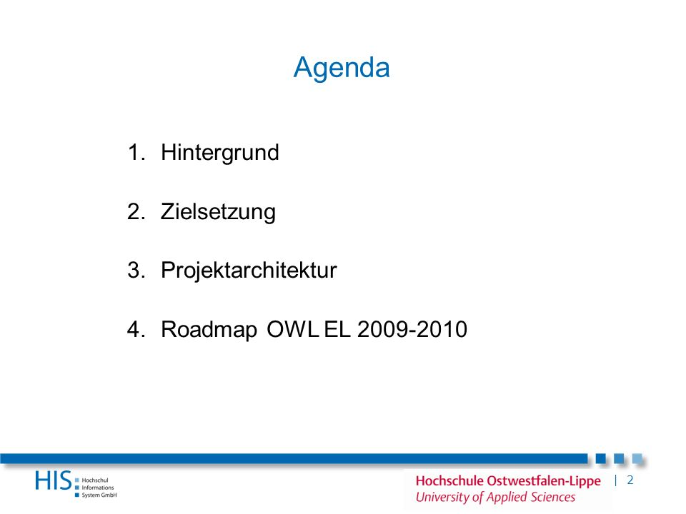 Agenda Hintergrund Zielsetzung Projektarchitektur