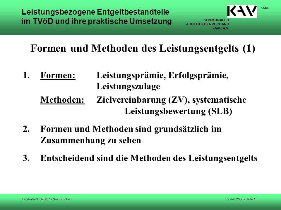 Formen und Methoden des Leistungsentgelts (1)