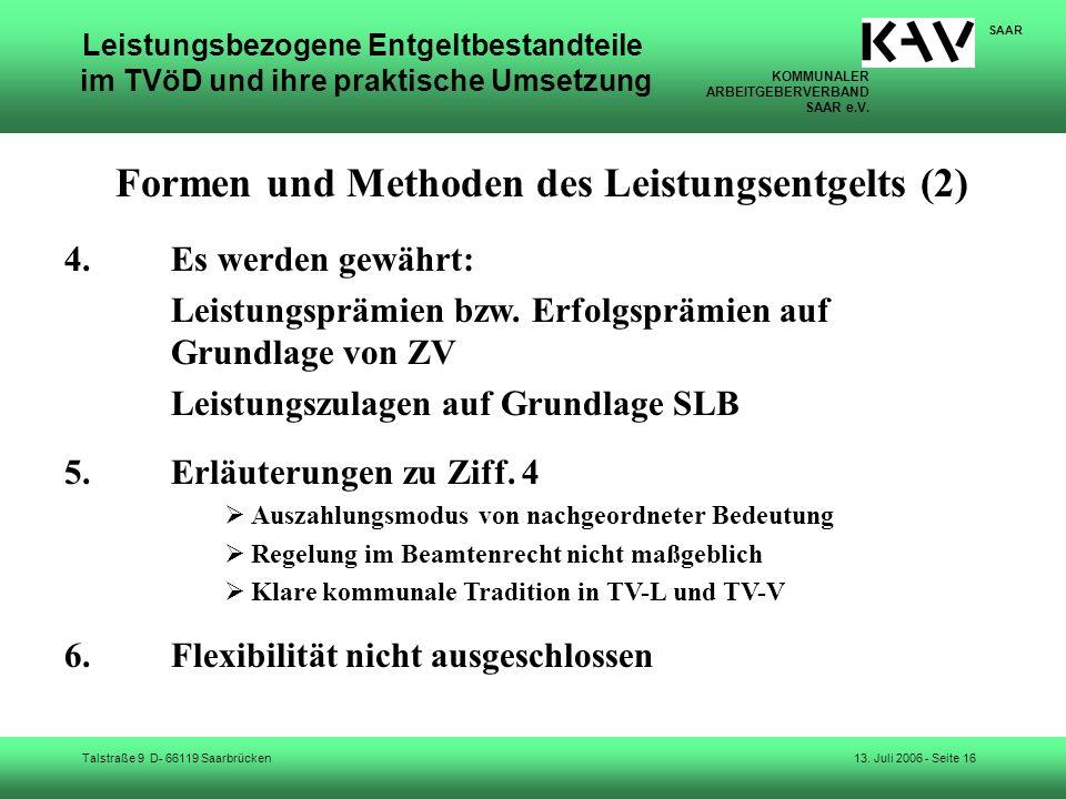 Formen und Methoden des Leistungsentgelts (2)