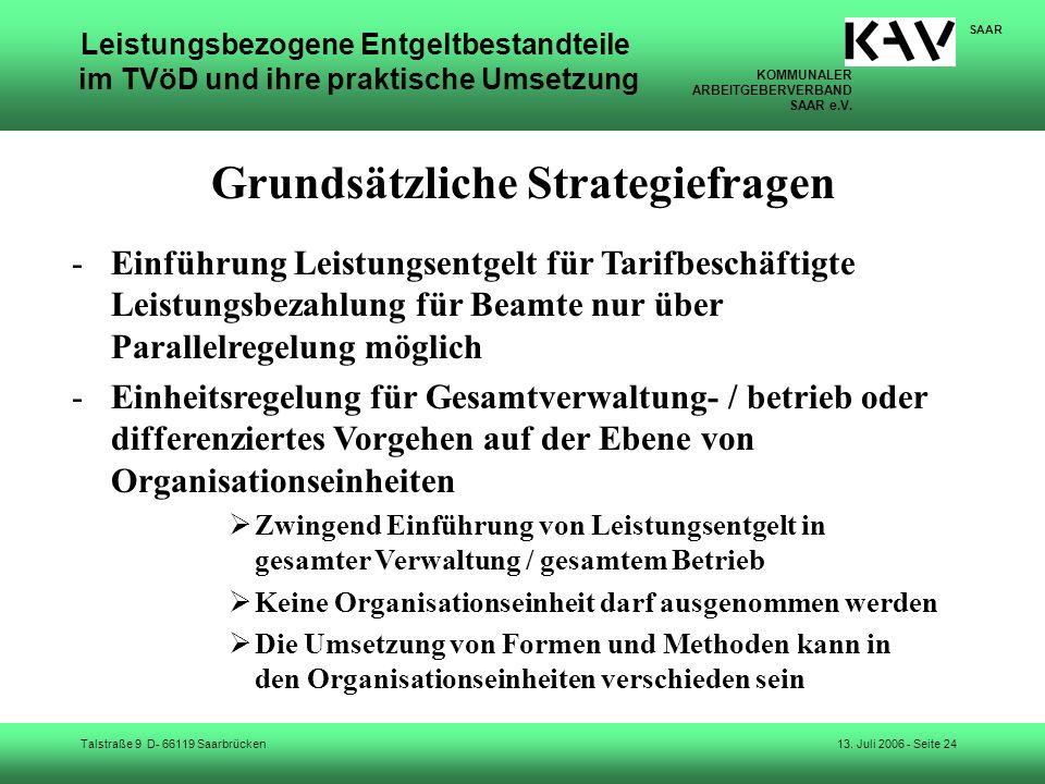 Grundsätzliche Strategiefragen
