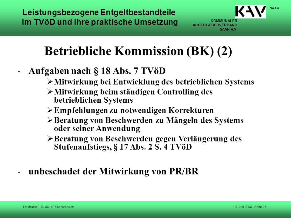 Betriebliche Kommission (BK) (2)