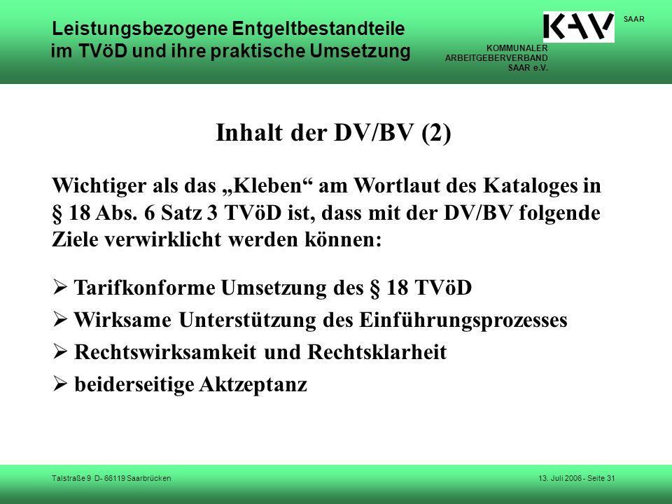 Inhalt der DV/BV (2)