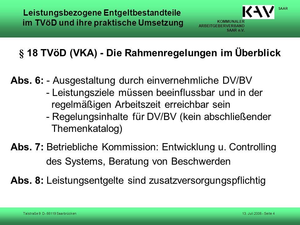 § 18 TVöD (VKA) - Die Rahmenregelungen im Überblick