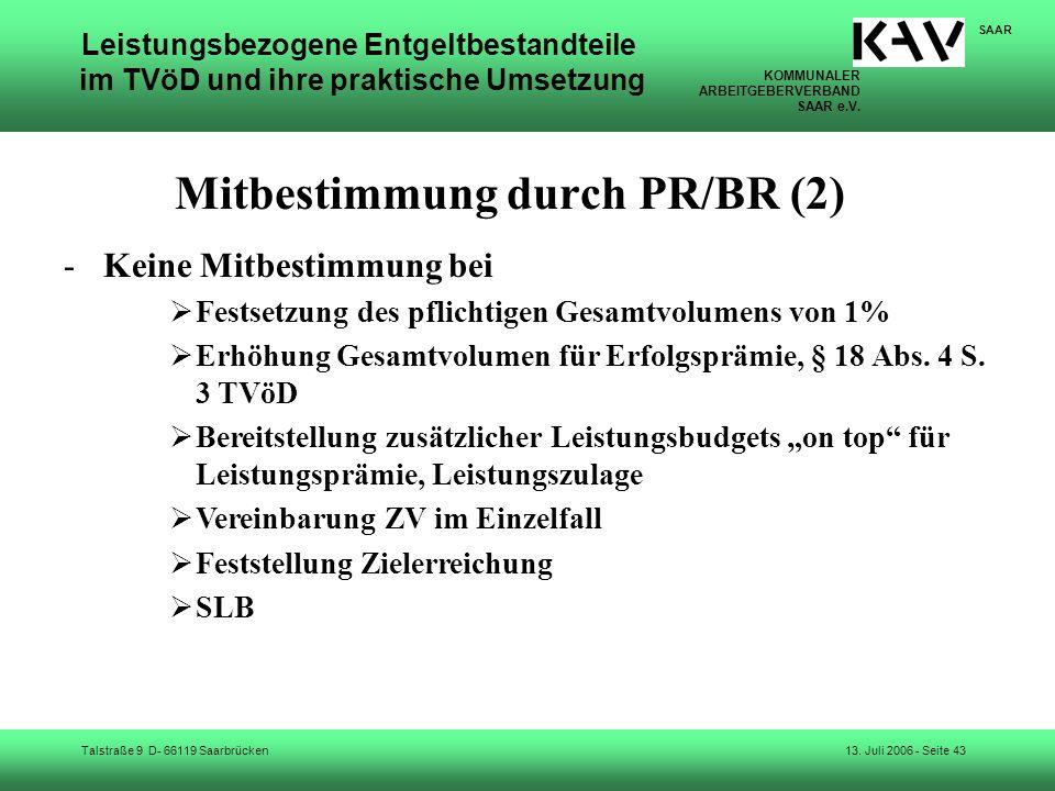 Mitbestimmung durch PR/BR (2)