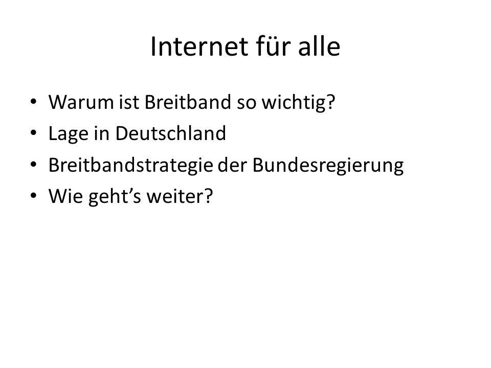 Internet für alle Warum ist Breitband so wichtig Lage in Deutschland