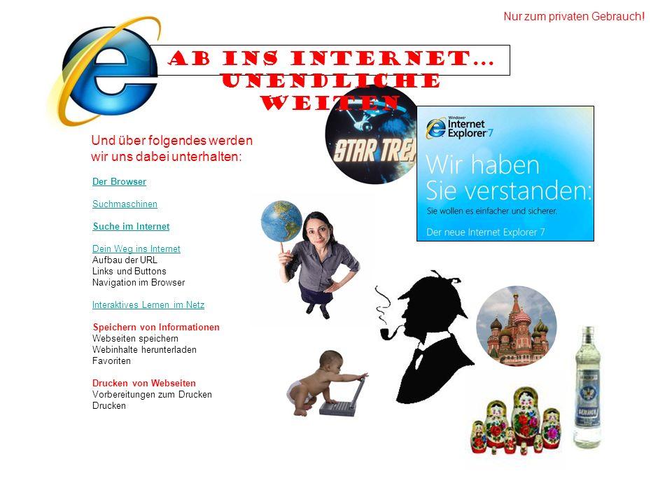 Ab ins Internet... unendliche Weiten