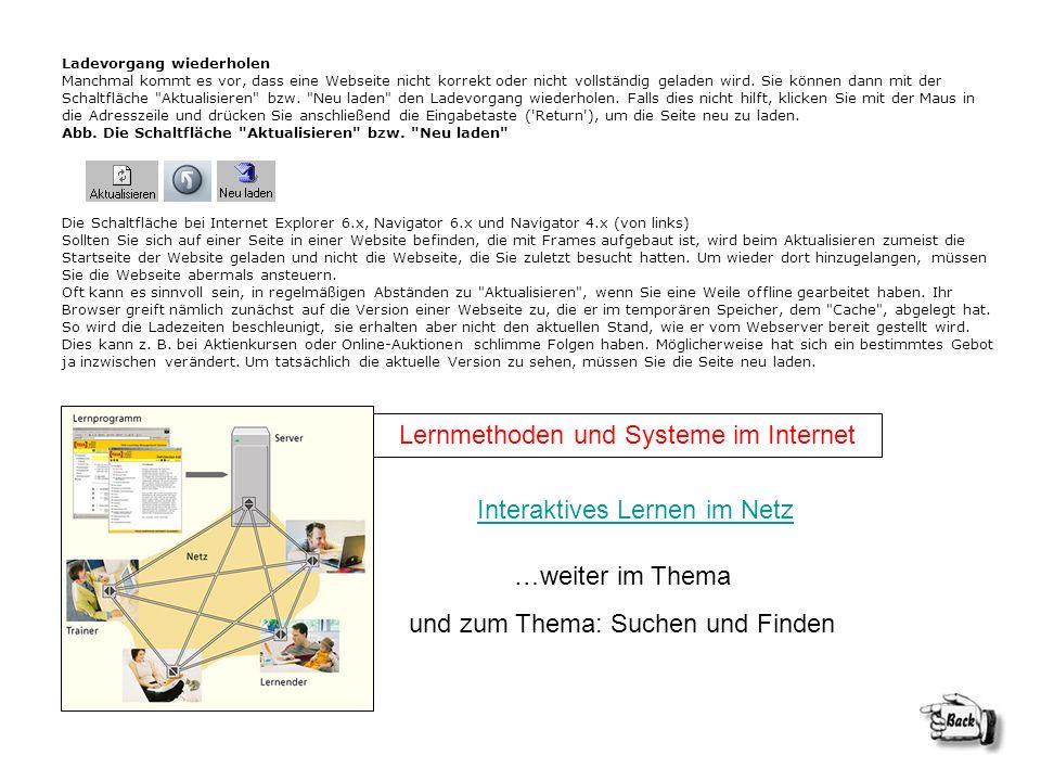 Lernmethoden und Systeme im Internet