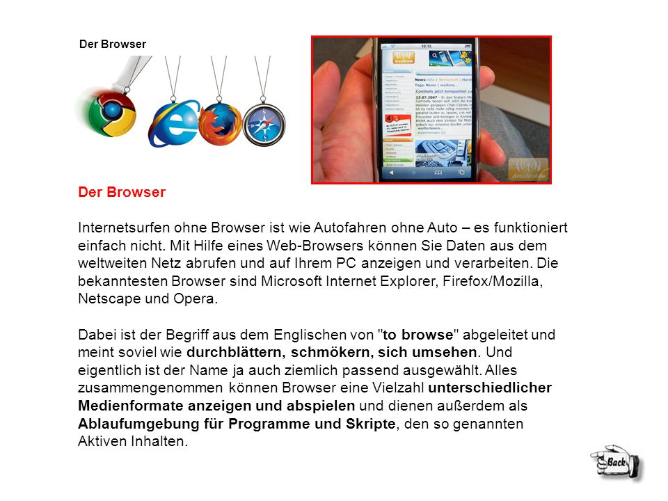 Der Browser Der Browser.