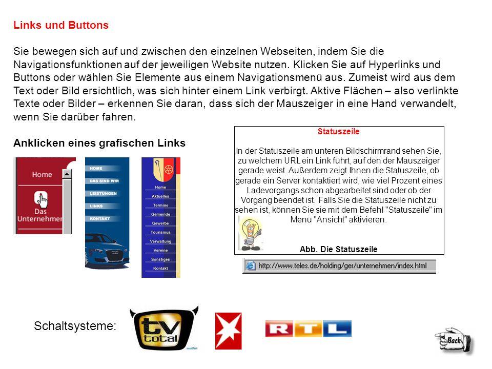 Schaltsysteme: Links und Buttons