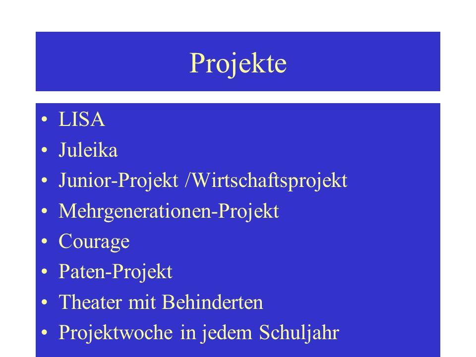 Projekte LISA Juleika Junior-Projekt /Wirtschaftsprojekt