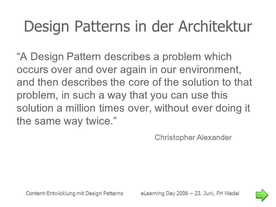Design Patterns in der Architektur