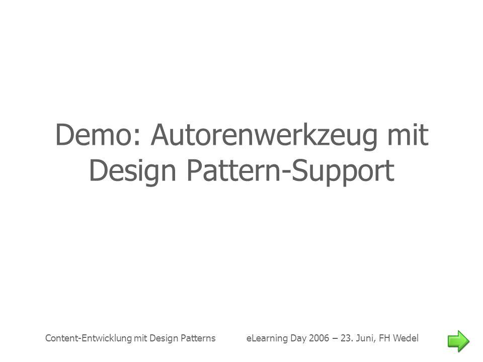 Demo: Autorenwerkzeug mit Design Pattern-Support