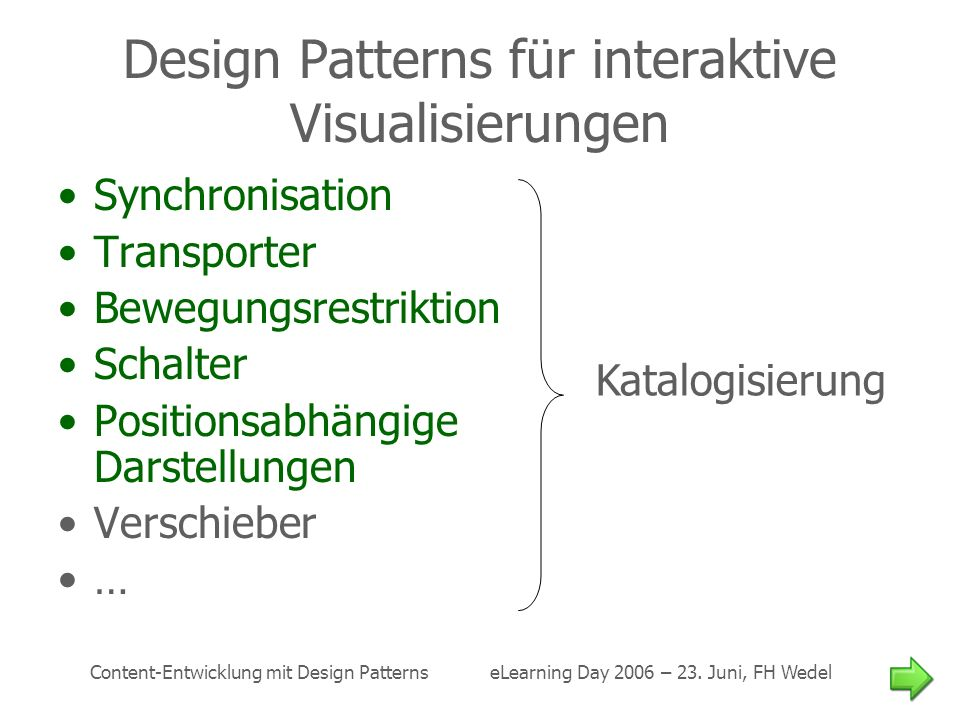 Design Patterns für interaktive Visualisierungen