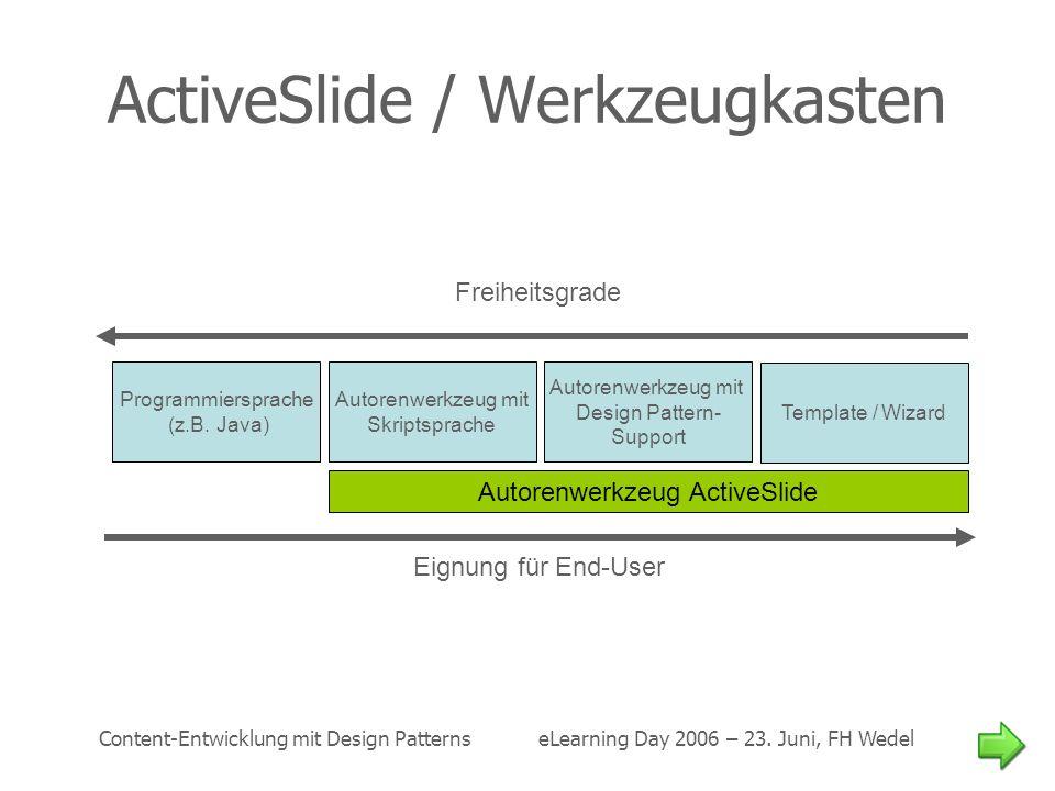 ActiveSlide / Werkzeugkasten