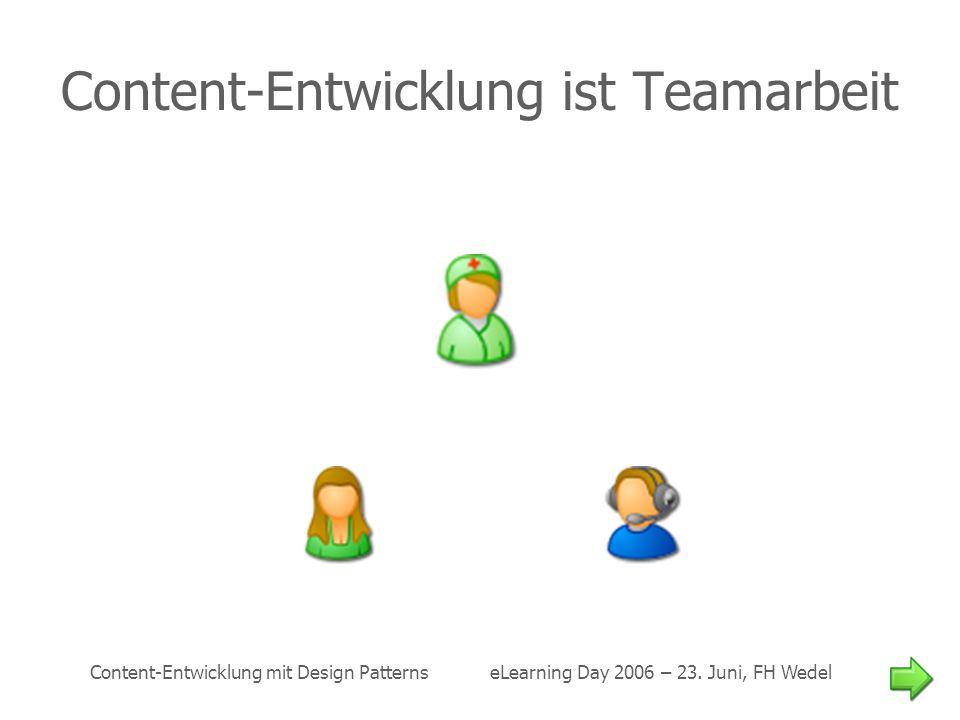 Content-Entwicklung ist Teamarbeit