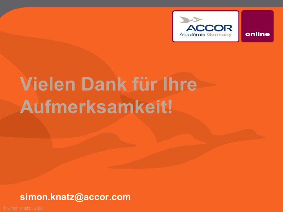 Vielen Dank für Ihre Aufmerksamkeit! simon.knatz@accor.com