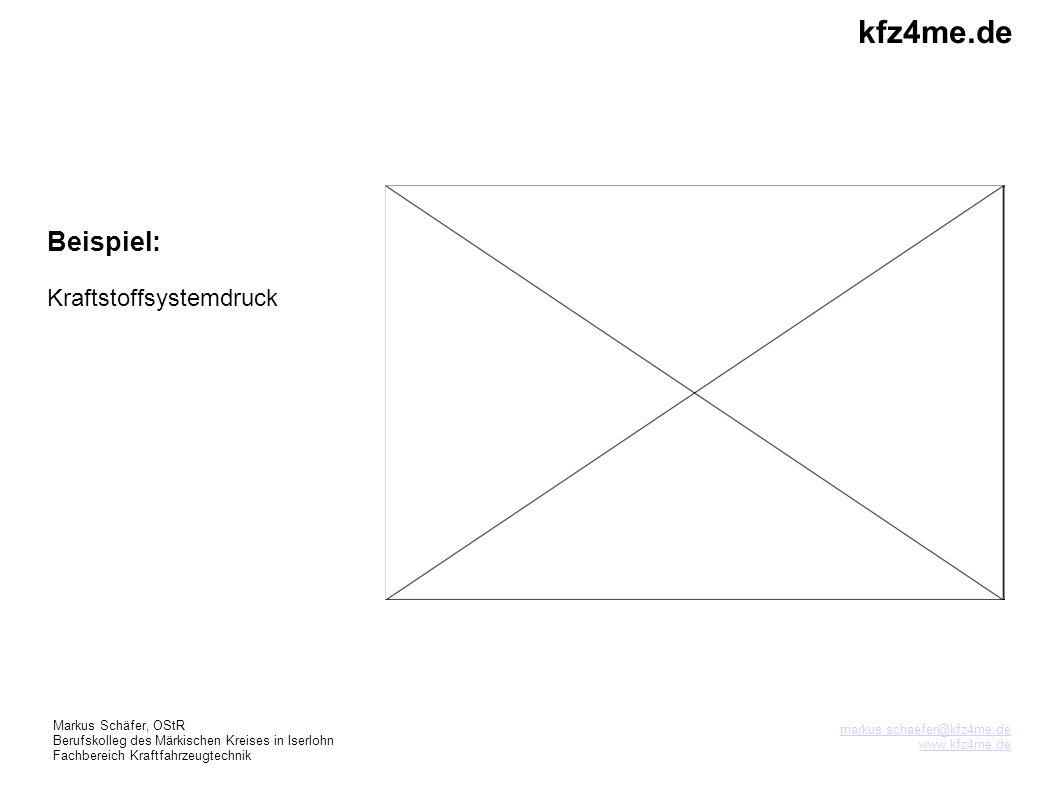 kfz4me.de Beispiel: Kraftstoffsystemdruck 3 3 Markus Schäfer, OStR