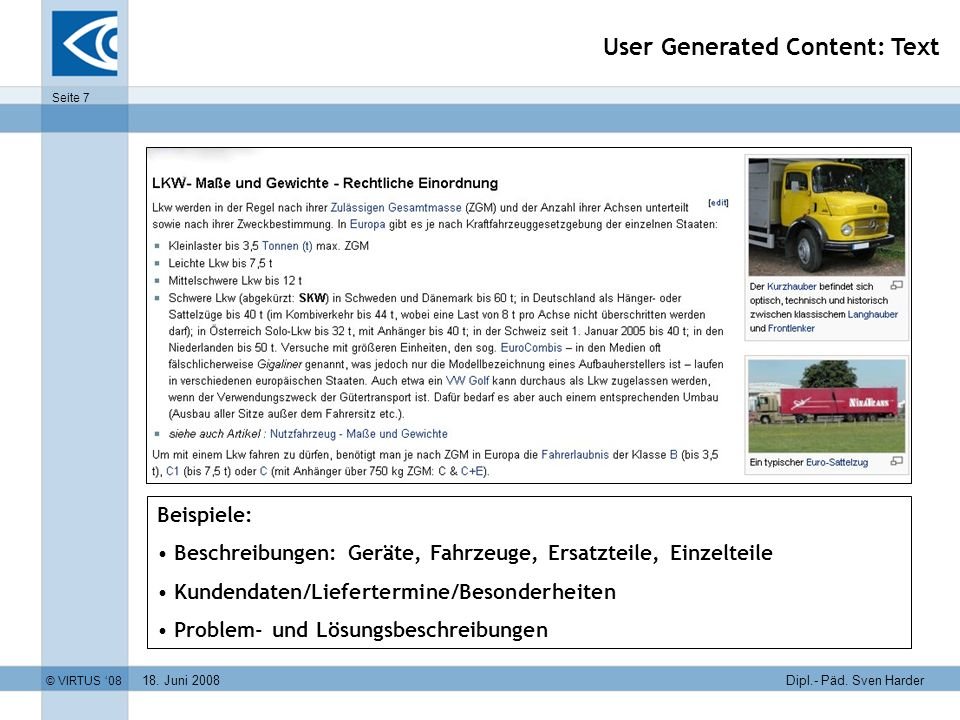 User Generated Content: Text
