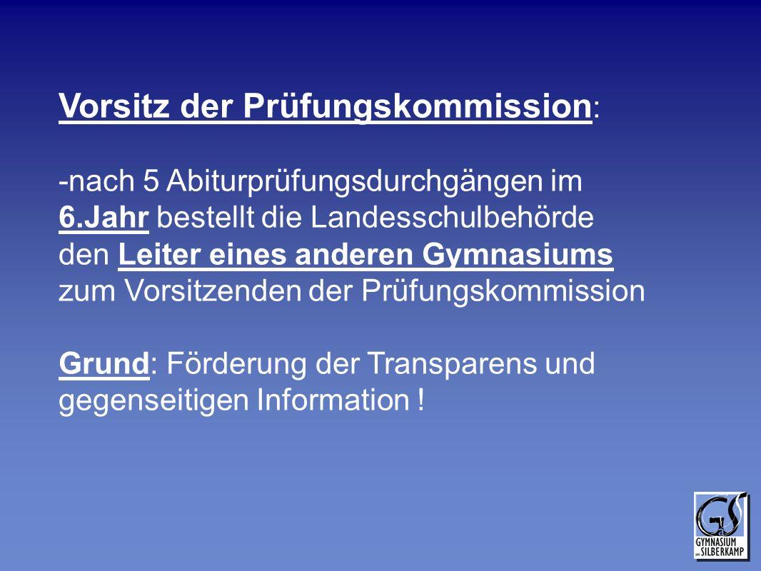 Vorsitz der Prüfungskommission: