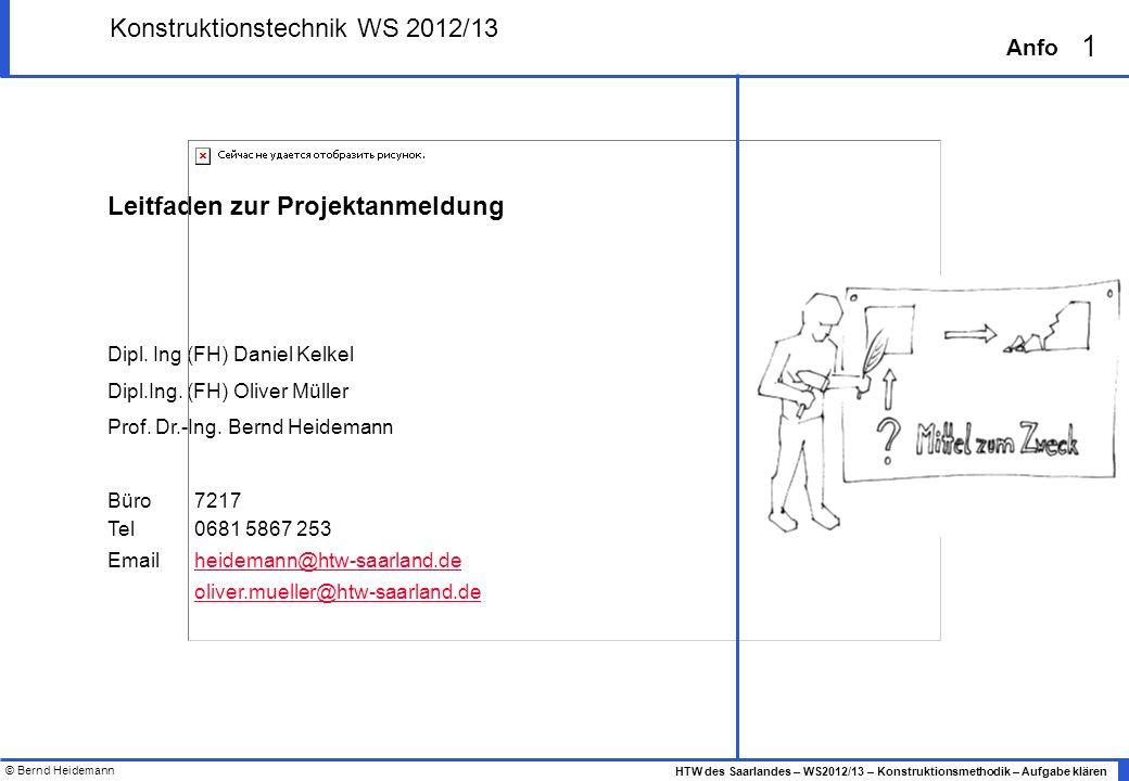 Konstruktionstechnik WS 2012/13