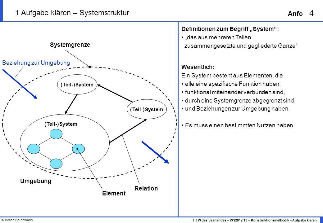 1 Aufgabe klären – Systemstruktur