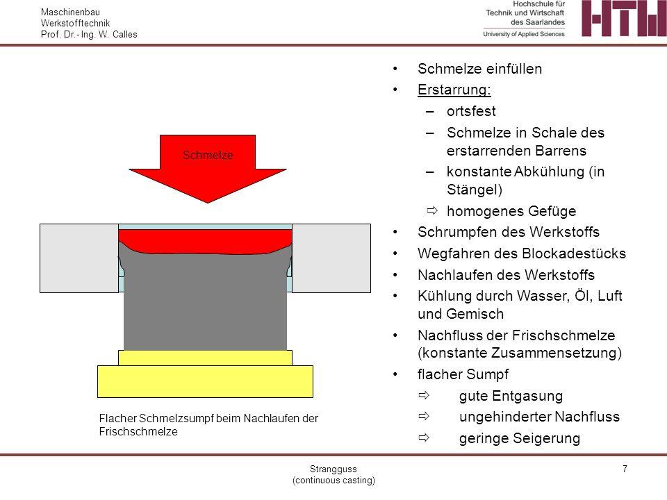 Strangguss (continuous casting)