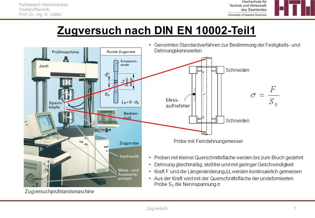 Zugversuch nach DIN EN 10002-Teil1