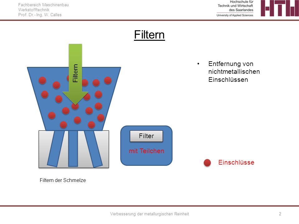 Verbesserung der metallurgischen Reinheit
