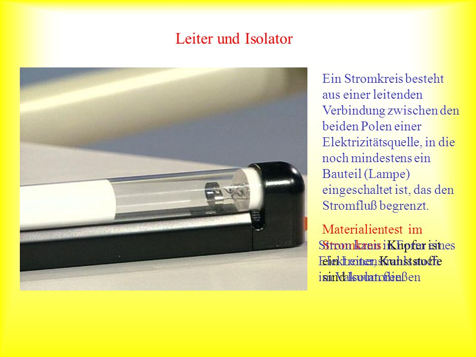 Leiter und Isolator