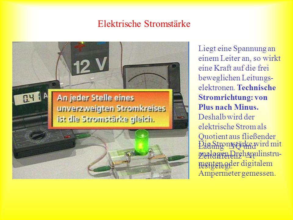 Elektrische Stromstärke